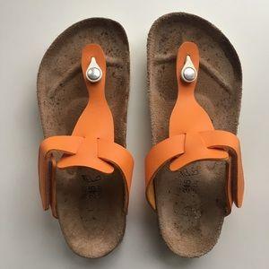 Birkis Birkenstock Sandals Orange 38